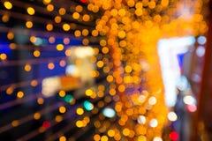 Blurred orange bokeh background Royalty Free Stock Images