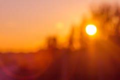Blurred orange sunset Stock Photography