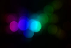 Blurred out of focus lights Royalty Free Stock Photos