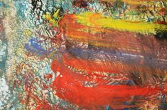 Blurred painting, paint watercolor abstract background Stock Photos