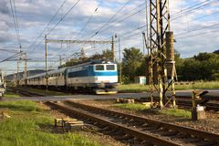 Blurred passenger train Stock Photography