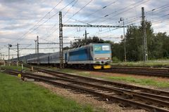 Blurred passenger train Stock Image
