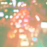 Blurred Pastel Defocused Color Lights on City Streets Colors Stock Photos