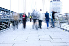 Blurred people Stock Images