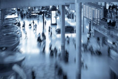 Blurred people in airport Royalty Free Stock Photography