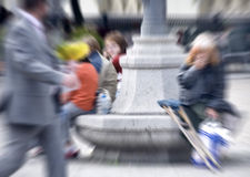 Blurred People in the city Royalty Free Stock Photography