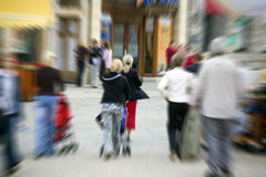 Blurred People in the city Royalty Free Stock Image