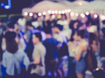 Blurred People Festival Event Party outdoor stock photo
