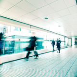 Blurred people moving at crowded street. Hong Kong. Royalty Free Stock Photo