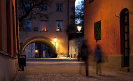 Narrow street in Uppsala Stock Image