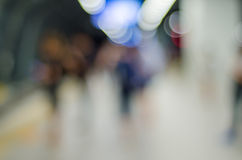Blurred people at train station Royalty Free Stock Photo