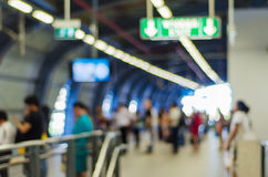 Blurred people at train station Royalty Free Stock Photography