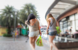 Blurred people walking around the shopping center Royalty Free Stock Photography