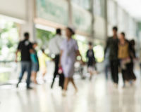 Blurred People Walking In The Building Stock Photos