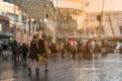 Blurred People Walking In The Shopping Mall Royalty Free Stock Photography