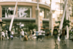 Blurred people walking in the shopping mall Royalty Free Stock Photo