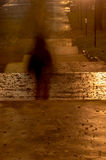 Blurred person silhouette in dark. Alley Stock Photos