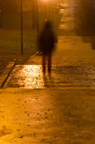Blurred person silhouette in dark Royalty Free Stock Photo