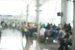 Blurred photo of an airport terminal Royalty Free Stock Photo