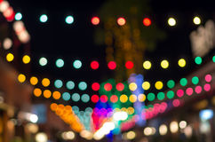 Blurred photo bokeh abstract lights background for new year part Stock Images