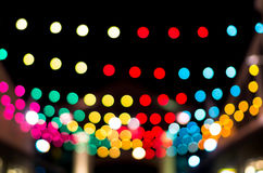 Blurred photo bokeh abstract lights background for new year part Stock Photography