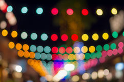 Blurred photo bokeh abstract lights background for new year part Royalty Free Stock Image
