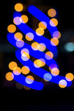 Blurred photo bokeh abstract lights background Royalty Free Stock Photography