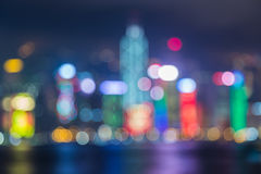 Blurred Photo bokeh, Cityscape at twilight time Stock Images