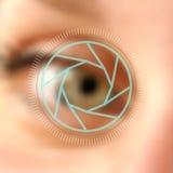 Blurred photo eye camera lens concept royalty free illustration
