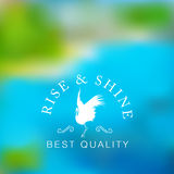 Blurred photo with stork logo Royalty Free Stock Photo
