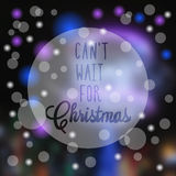 Blurred photographic background and text. Vector illustration. Blurred photographic background with snow and text Royalty Free Stock Photo