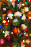 Blurred photography christmas tree - holiday background royalty free stock photography
