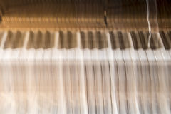 Blurred piano Stock Photography