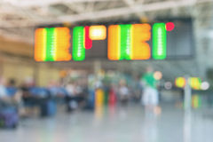 Blurred picture of airport. Boarding schedule stock photography