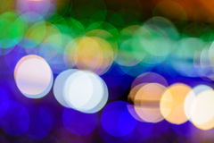 Blurred picture of colorful big round bokeh. Blurred picture of colorful big round bokeh of LED light decorated for Christmas stock image