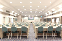 Blurred picture, empty meeting room Stock Images