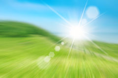 Blurred picture of green field Royalty Free Stock Image