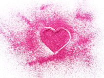 Blurred pink glitter Royalty Free Stock Image