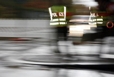 Blurred police Royalty Free Stock Photo