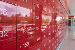 Blurred post office in Thailand for background stock photography