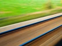 Blurred railroad Stock Photo