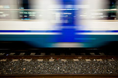 Blurred Railroad Car Royalty Free Stock Photo