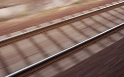 Blurred Railway Stock Image