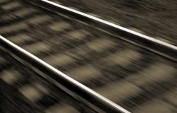 Blurred railway lines Royalty Free Stock Images