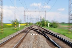 Blurred railway track Stock Image