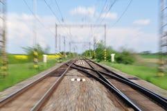 Blurred railway track Stock Image