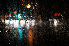 Blurred rain background Royalty Free Stock Photography