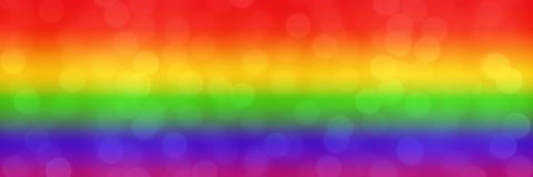 Blurred rainbow background with natural bokeh light balls. abstract gradient web wallpaper. LGBT movement concept. - Image.  royalty free stock photos