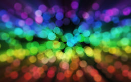 Blurred rainbow sparkles bokeh Stock Photo