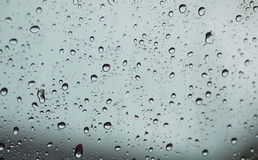 Blurred raindrop to the window Royalty Free Stock Image